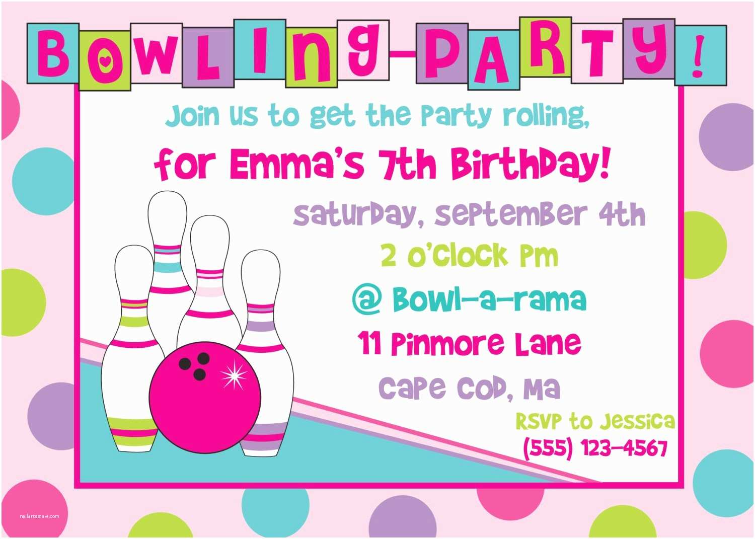 Printable Party Invitations Bowling Birthday Party Invitations Free Templates