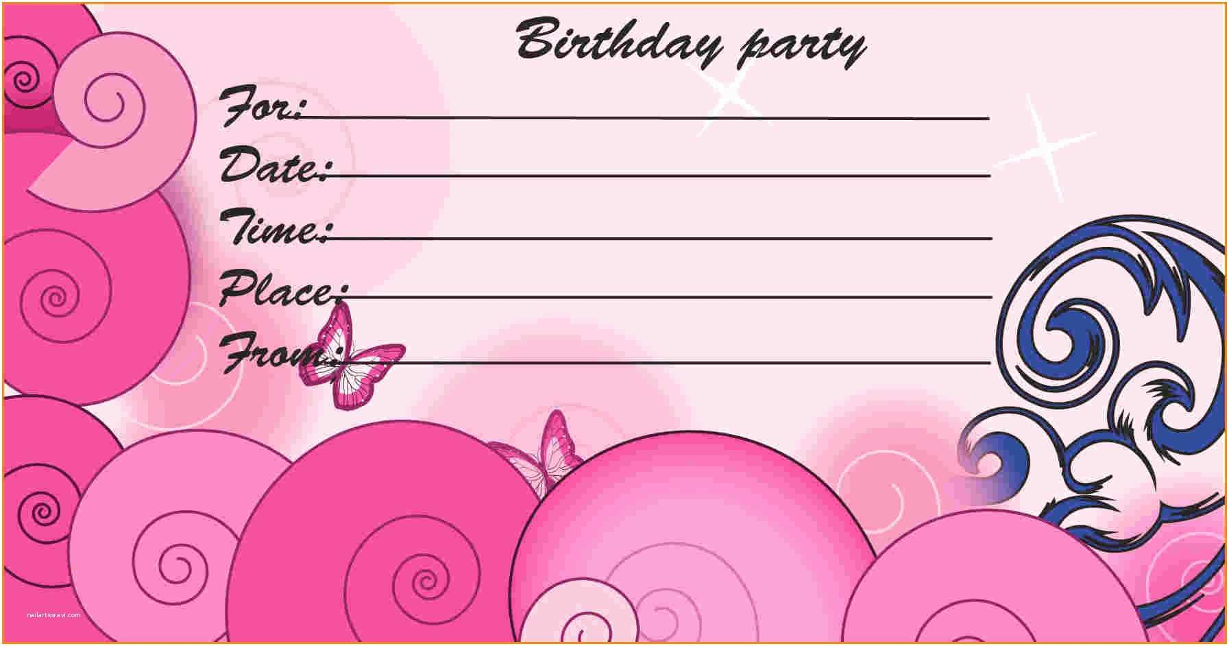 Printable Party Invitations Free Printable Kids Birthday Party Invitations Templates