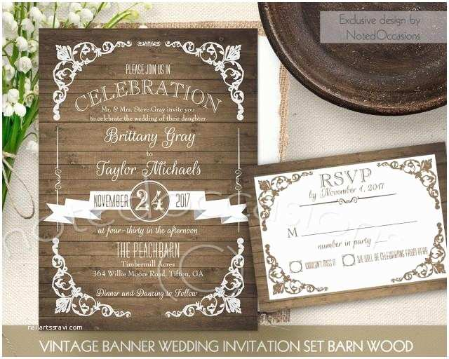 Printable Rustic Wedding Invitations Rustic Wedding Invitation Printable Set Country Wedding
