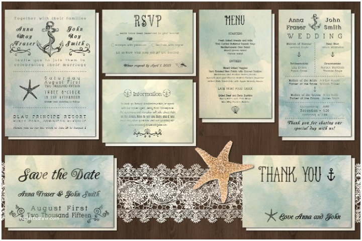 Printable Seashell Wedding Invitations 18 Beautiful Printable Wedding Invitation Designs