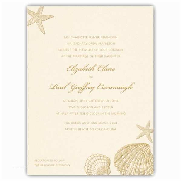 Printable Seashell Wedding Invitations Beach Shells Pearlized White Wedding Invitations