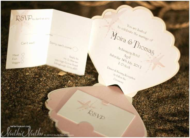 Printable Seashell Wedding Invitations Coastal Finds Custom Shell Shaped Wedding Invitation