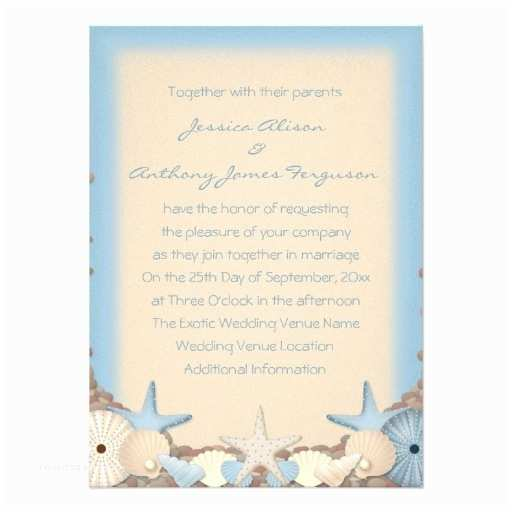 Printable Seashell Wedding Invitations Personalised Beach Shells Wedding Invitation by Beautiful