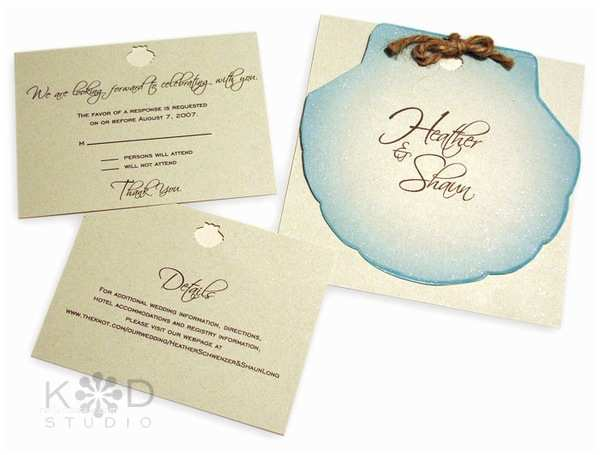 Printable Seashell Wedding Invitations Seal and Send Beach Wedding Invitations to Set the tone