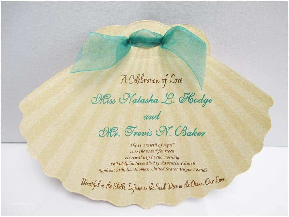 Printable Seashell Wedding Invitations Seashell Shaped Invitations