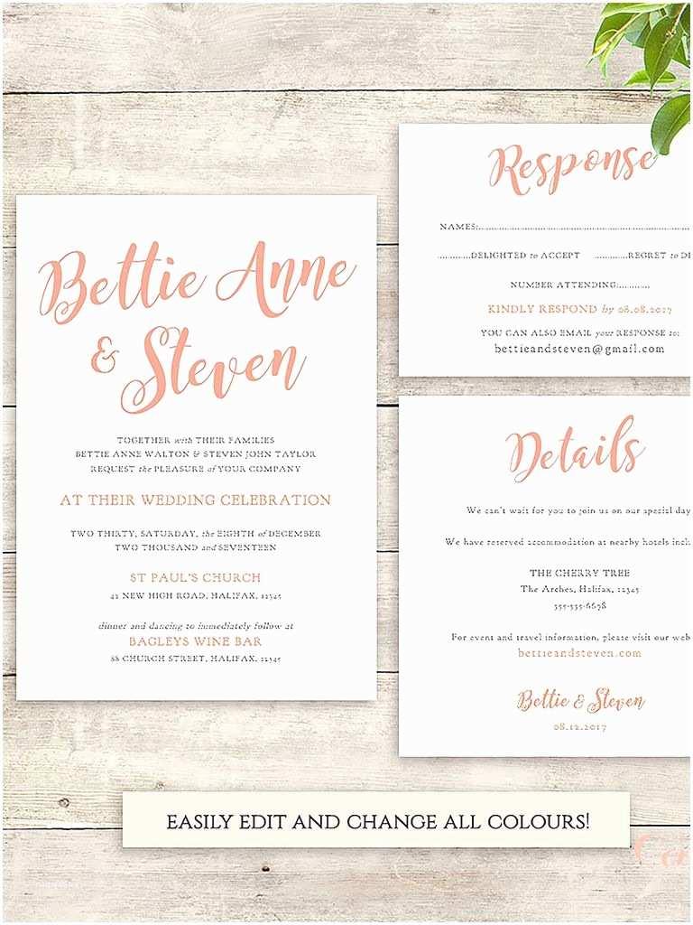 Printable Wedding Invitation Templates 16 Printable Wedding Invitation Templates You Can Diy