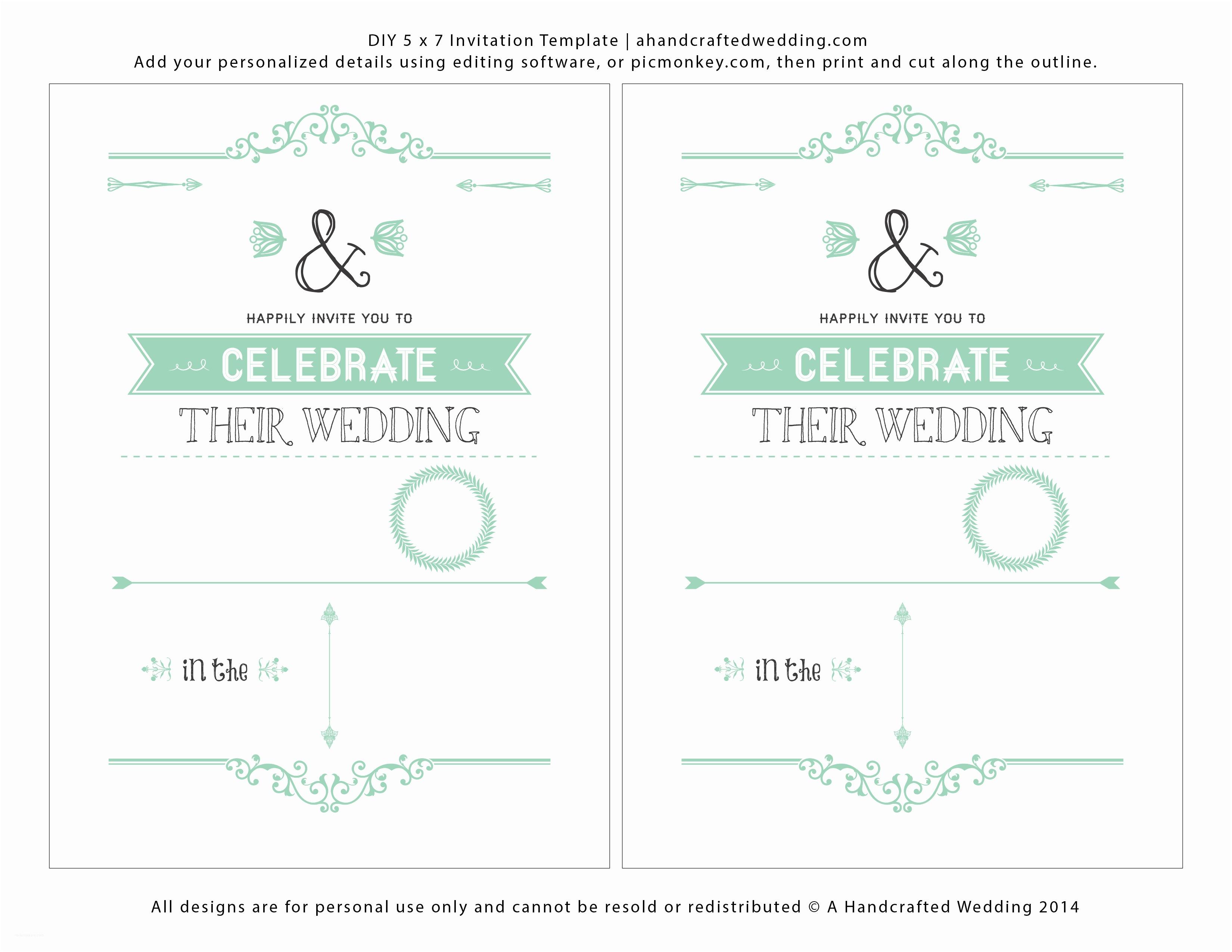 Printable Wedding Invitation Templates Free Wedding Invitation Template