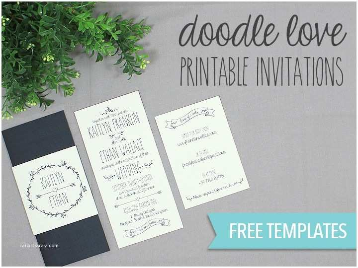 Printable Wedding Invitations Diy Tutorial Free Printable Wedding Invitation Set Boho