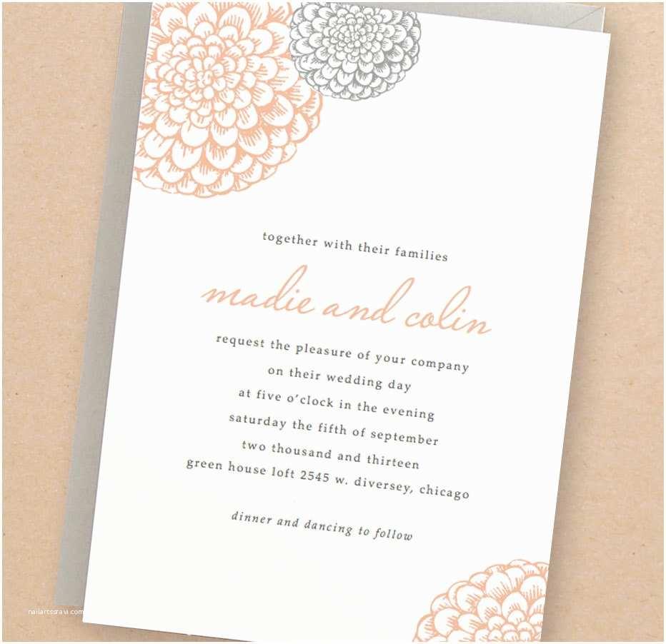 Printable Wedding Invitations Printable Wedding Invitation Template Instant Download
