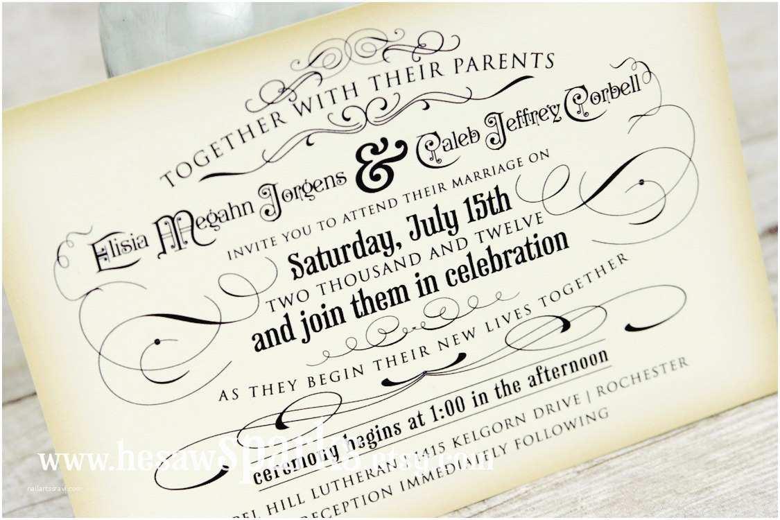 Printable Wedding Invitations Vintage Wedding Invitation Printable Diy the Timeless