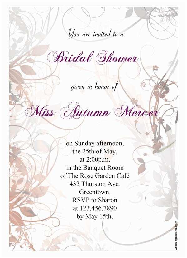 Printable Wedding Shower Invitations 22 Free Bridal Shower Printable Invitations All Free