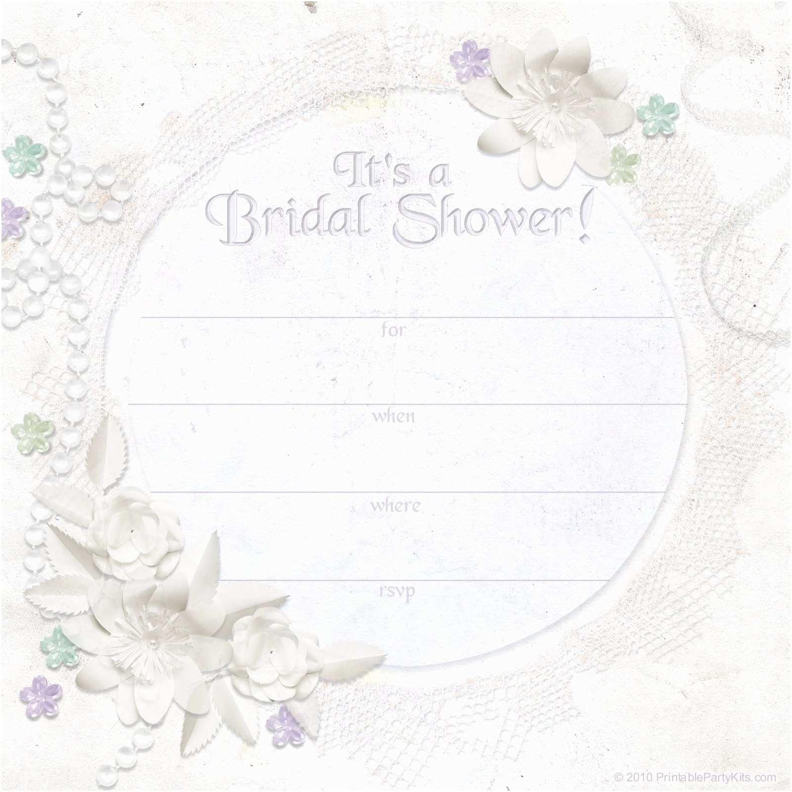 Printable Wedding Shower Invitations Bridal Shower Invitation Templates
