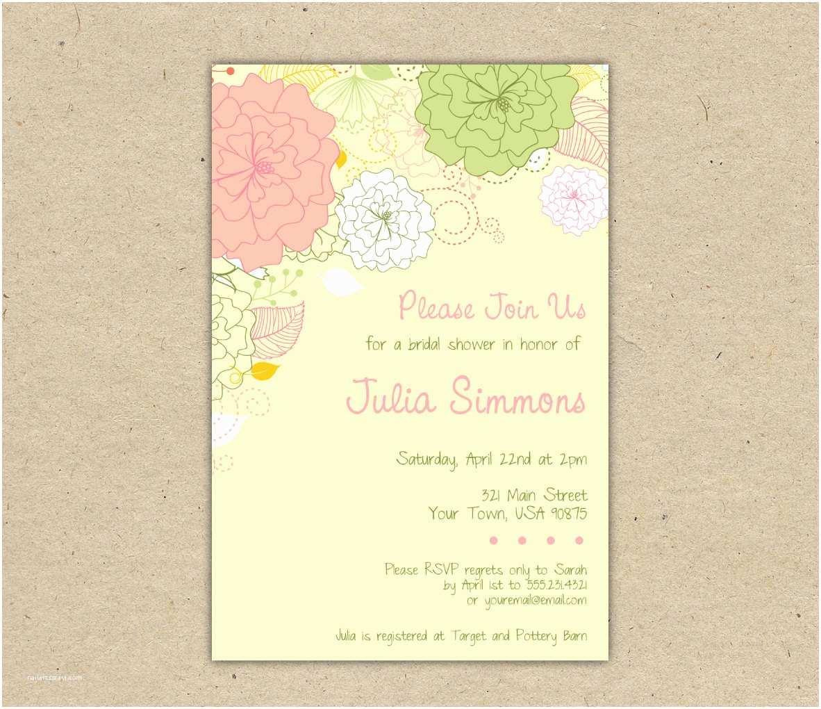 Printable Wedding Shower Invitations Printable Wedding Shower Invitations Template
