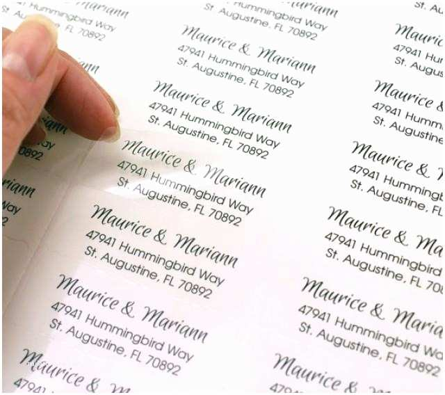 Printed Address Labels for Wedding Invitations Custom Print Clear Return Address Labels for Wedding