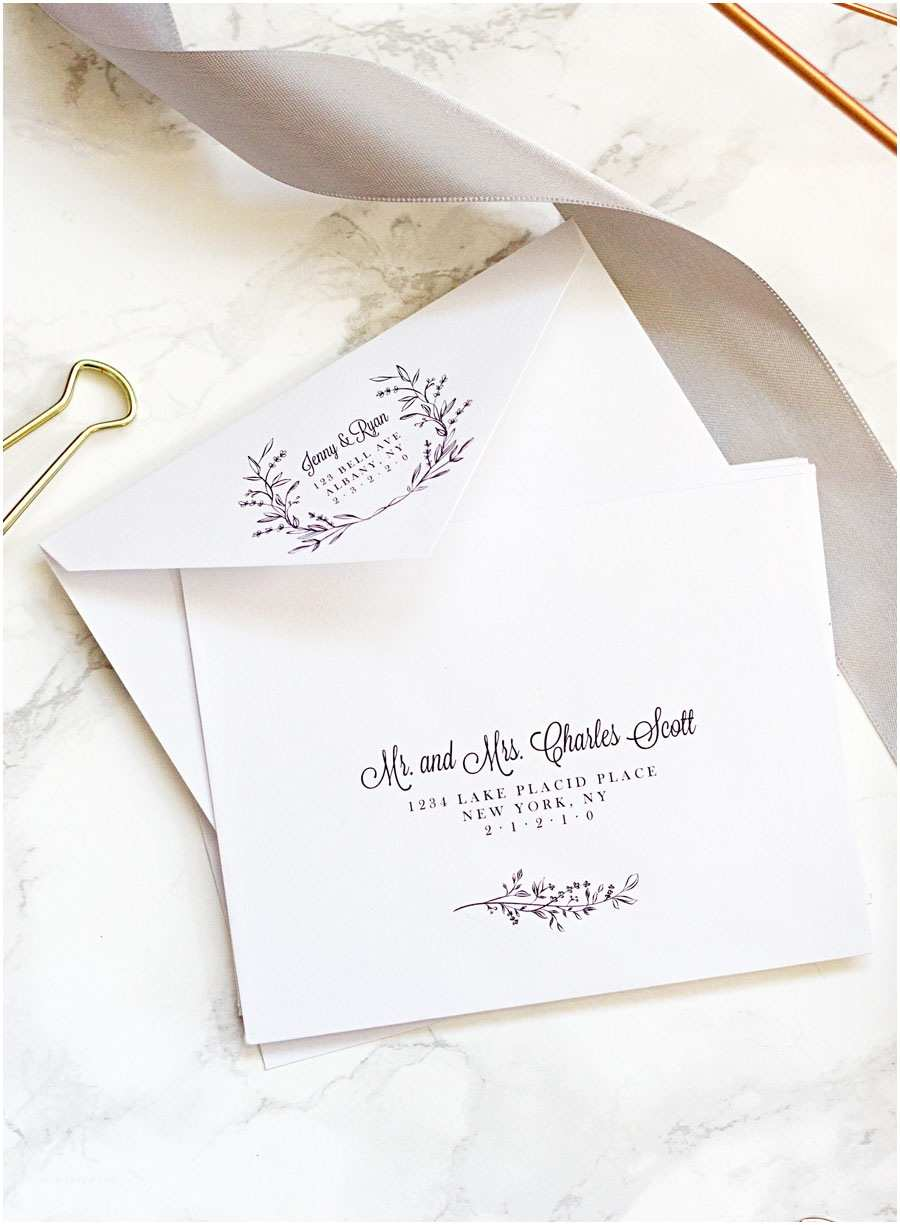 Printed Address Labels for Wedding Invitations Easy Printable Envelope Template