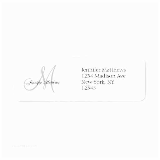 Printed Address Labels for Wedding Invitations Monogram Wedding Invitation Simple Address Labels