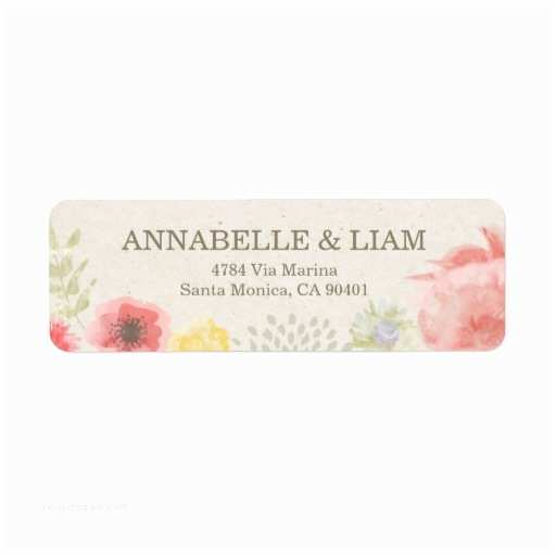 Printed Address Labels for Wedding Invitations Summer Wedding Invitation Address Label