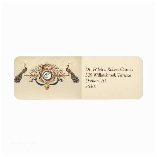 Printed Address Labels for Wedding Invitations Vintage Wedding Invitation Return Address Labels