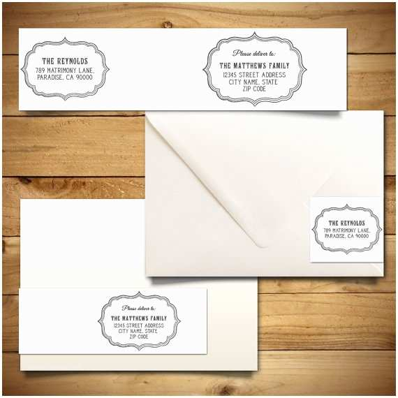 Printed Address Labels for Wedding Invitations Wedding Invitation Envelope Label Template Matik for