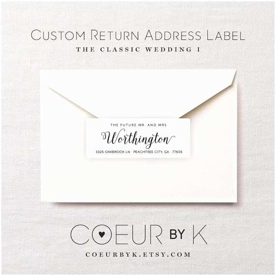 Printed Address Labels for Wedding Invitations Wedding Return Address Labels Peacock Wedding Return