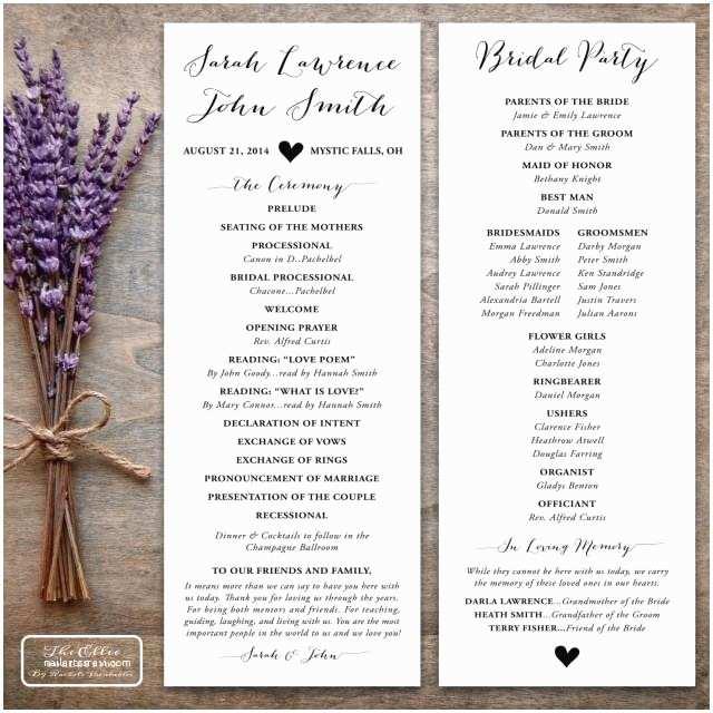 Printing Wedding Invitations at Kinkos Printable Wedding Program Rustic the Ellie Collection