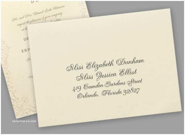 Proper Wedding Invitation Addressing Wedding Invitation Names Cogimbo
