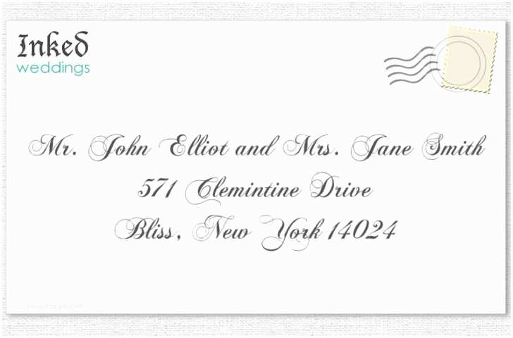 Proper Wedding Invitation Addressing Wedding Invitation to A Married Couple Different Last