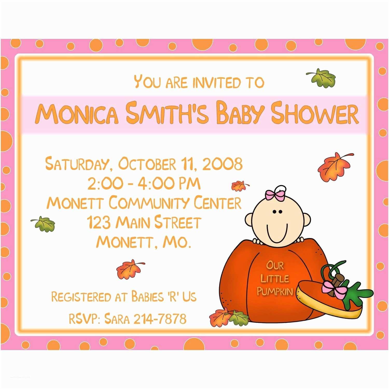 Pumpkin Baby Shower Invitations 20 Baby Shower Invitations Our Little Pumpkin