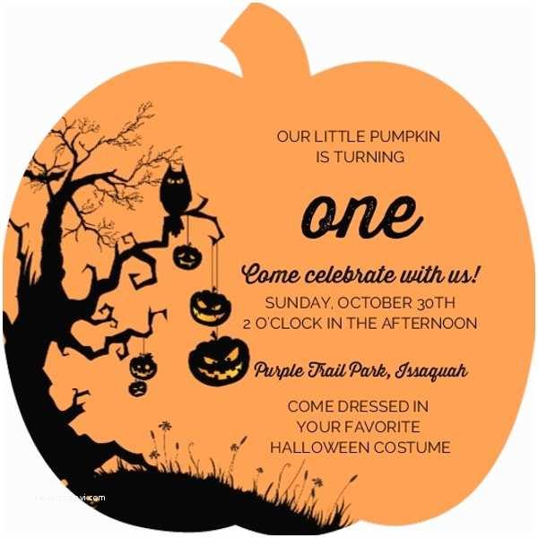 Pumpkin Birthday Invitations 1st Birthday Pumpkin Party Ideas Invitations Wording