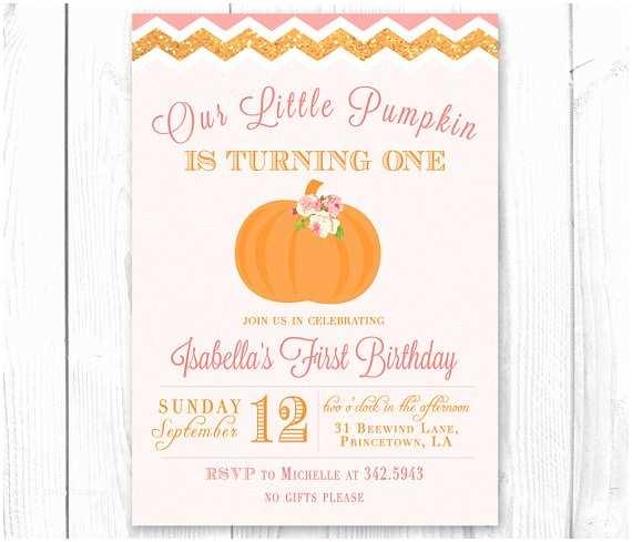 Pumpkin Birthday Invitations Items Similar to Little Pumpkin Birthday Invitation