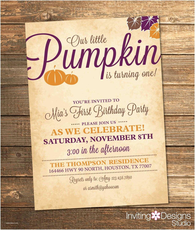 Pumpkin Birthday Invitations Little Pumpkin Birthday Invitation Fall Birthday Party