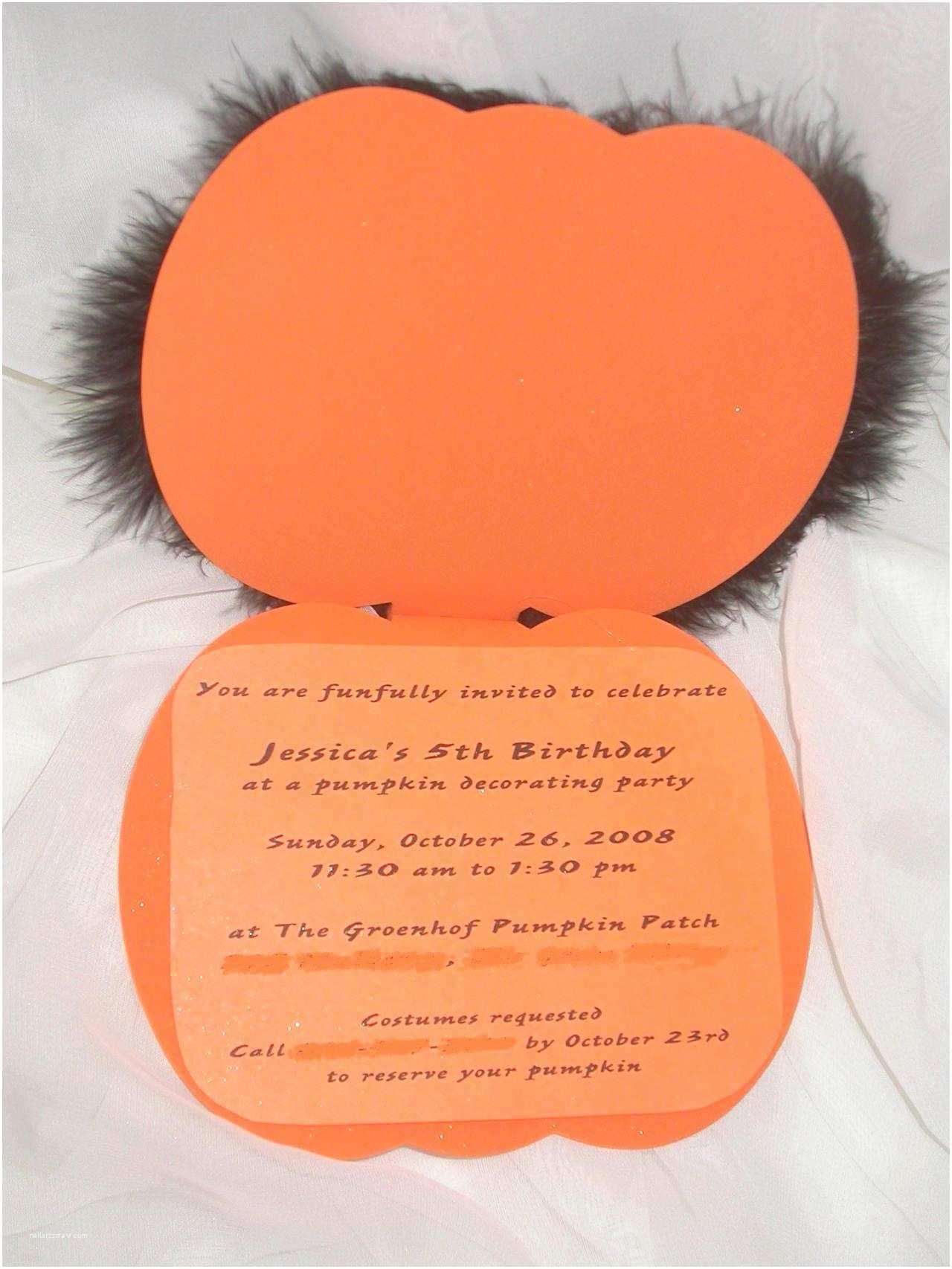 Pumpkin Birthday Invitations Pumpkin Birthday Invitations – Gangcraft