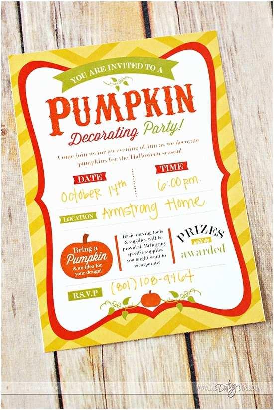 Pumpkin Birthday Invitations Pumpkin Decorating Party