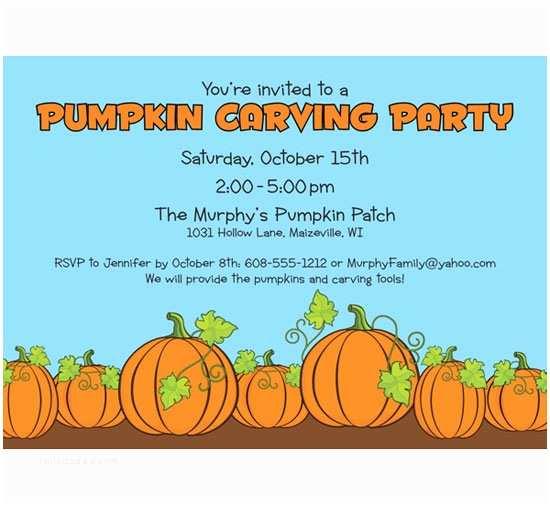Pumpkin Birthday Invitations Pumpkin Party Invitation