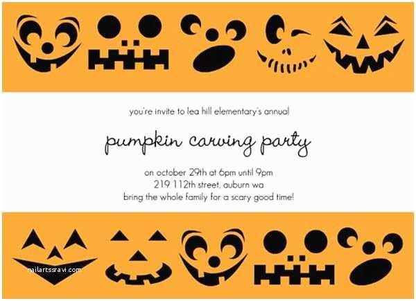 Pumpkin Birthday Invitations Spooktacular Halloween Pumpkin Invitations