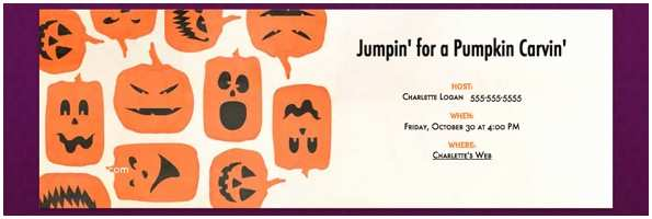 Pumpkin Carving Party Invitation Don T Be Scared Get Kid S Halloween Invitation Wording