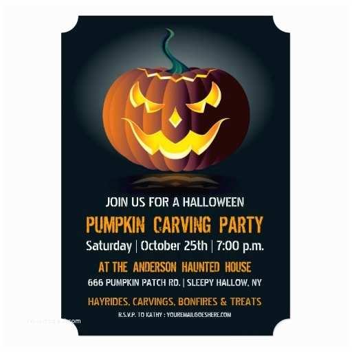 Pumpkin Carving Party Invitation Halloween Pumpkin Carving Party Invitation