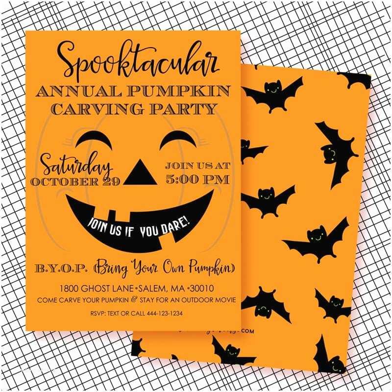 Pumpkin Carving Party Invitation Halloween Pumpkin Carving Party Invitation Printable
