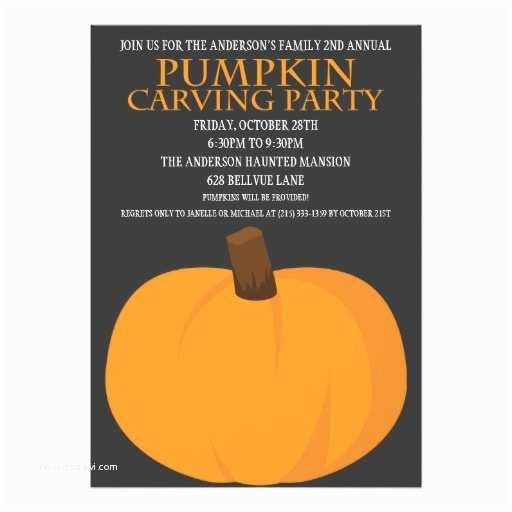 Pumpkin Carving Party Invitation Halloween Pumpkin Carving Party Invitations