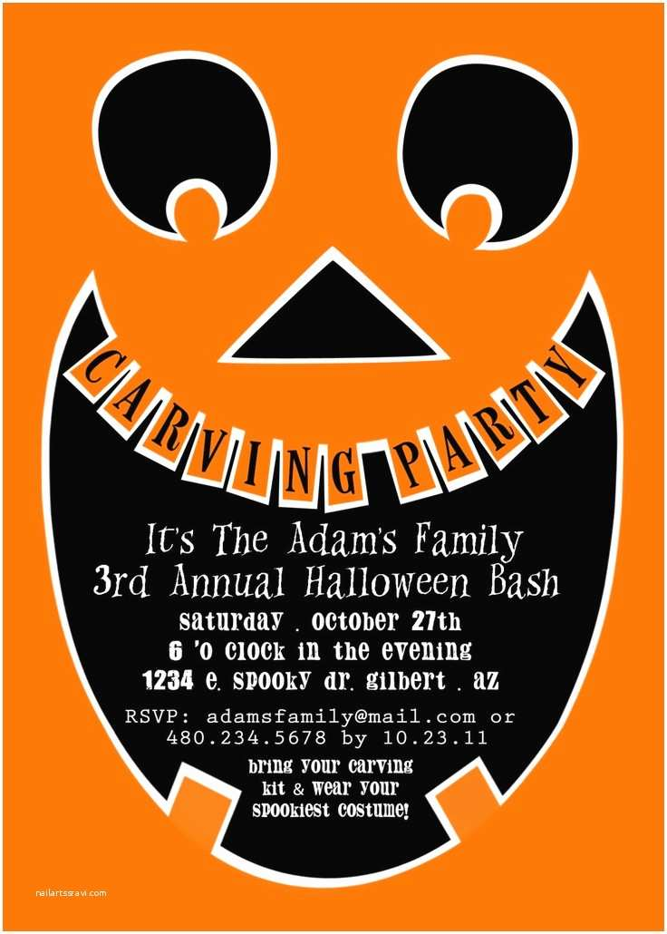 Pumpkin Carving Party Invitation Printable Party Invitation Pumpkin Carving Party