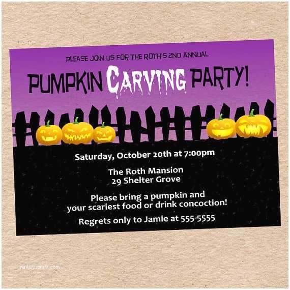 Pumpkin Carving Party Invitation Pumpkin Carving Party Invitation Custom From