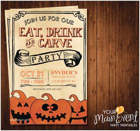 Pumpkin Carving Party Invitation Pumpkin Carving Party Invitation Halloween Party Invites
