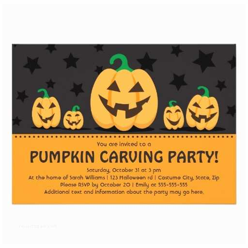 Pumpkin Carving Party Invitation Pumpkin Carving Party Invitation