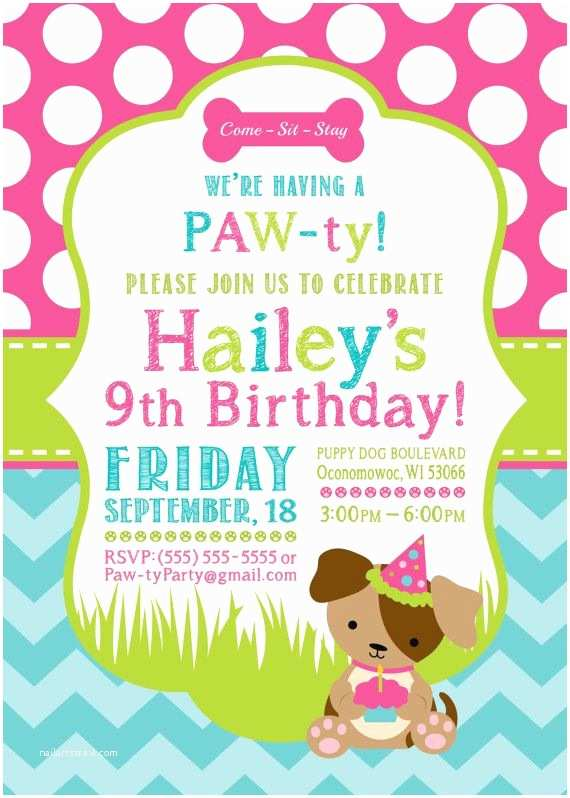 Puppy Party Invitations Best 25 Puppy Birthday Parties Ideas On Pinterest