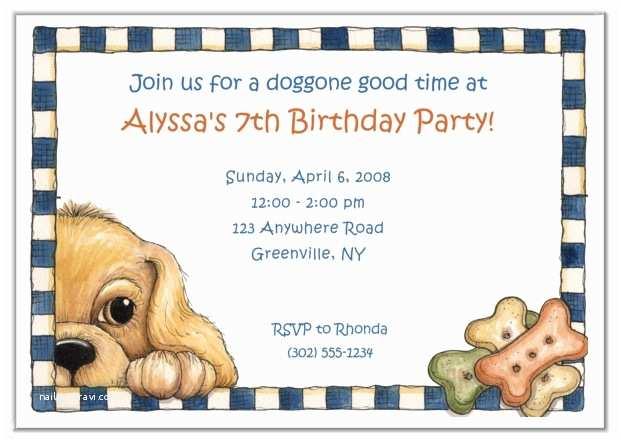 Puppy Party Invitations Dog Birthday Party Invitations
