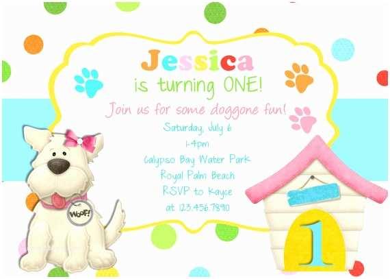 Puppy Party Invitations Dog themed Birthday Party Invitations