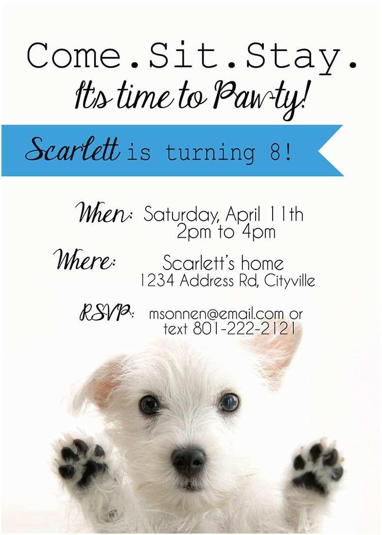 Puppy Party Invitations It S Three Thirty