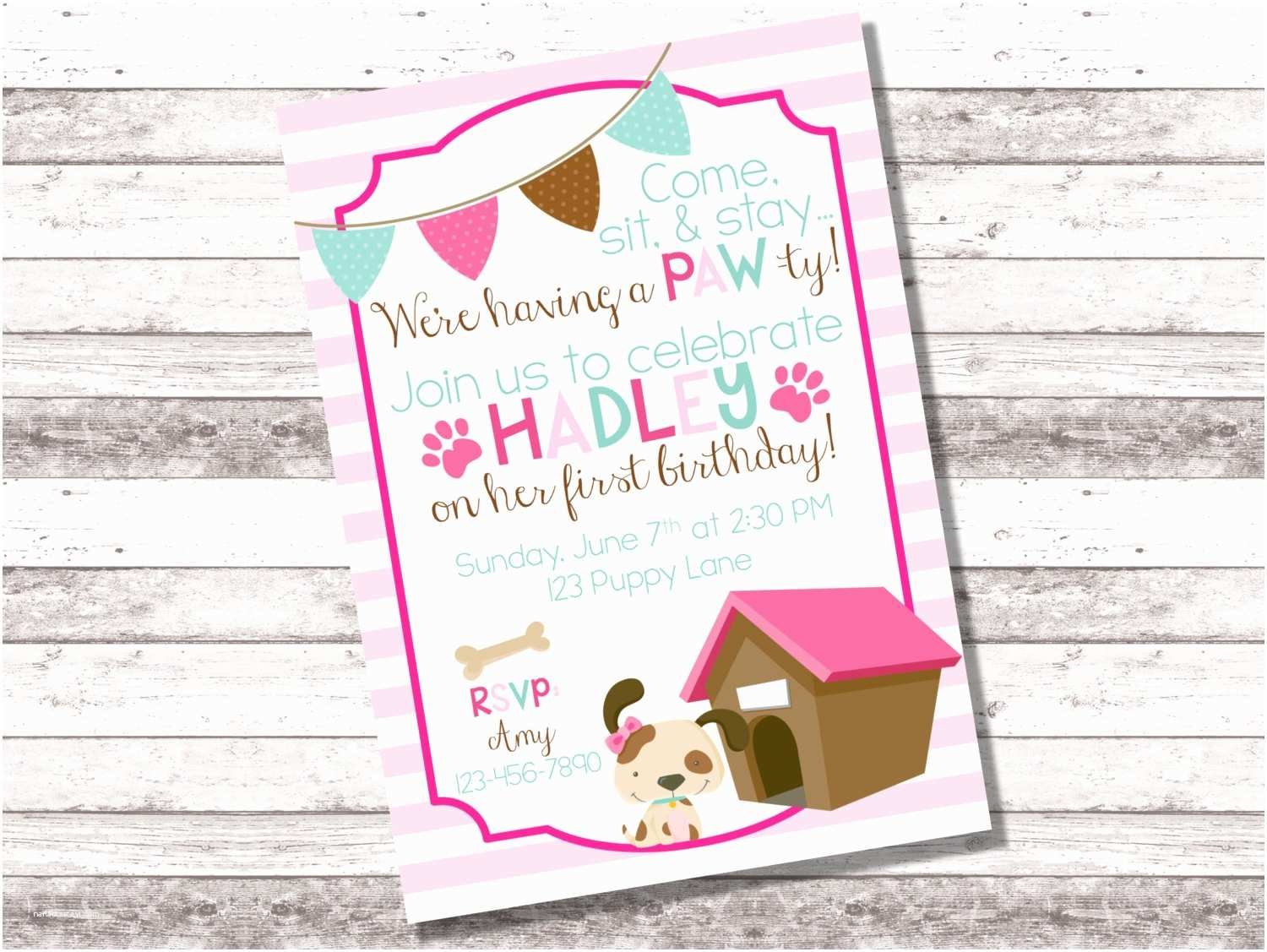 Puppy Party Invitations Puppy Birthday Party Invitations Mickey Mouse