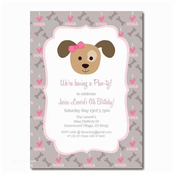 Puppy Party Invitations Puppy Party Invitation with Editable Text Printable by