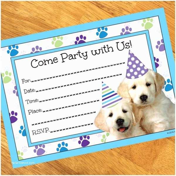 Puppy Party Invitations Puppy Party Invitations 8